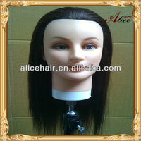 Cheap price training mannequin head with synthetic hair