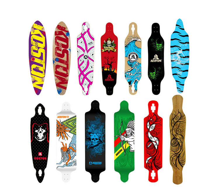 KOSTON Pro Longboard Deck, Lungo Skateboard Decks In Varie Dimensioni E Forme