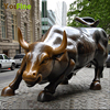 Hot Sale Bronze Wall Street Bull Animal Statue