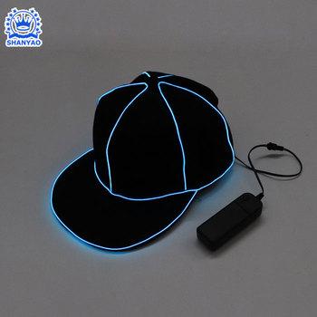 3ccab7cac3916b Wholesale fashion customized el luminous baseball cap for vocal concert