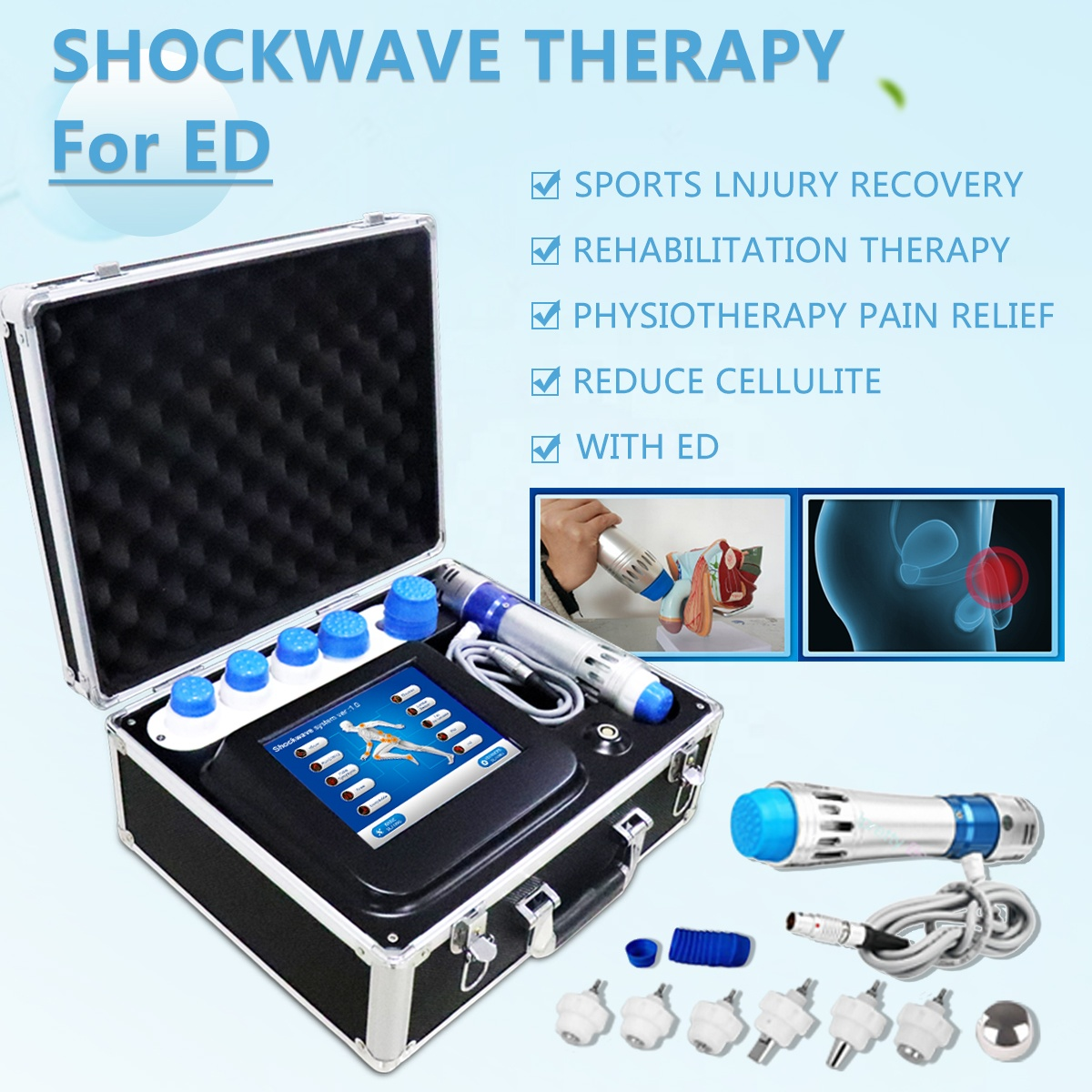 2019 SW7 Beauty Salon Machine Shockwave Therapy Machine Price For ED