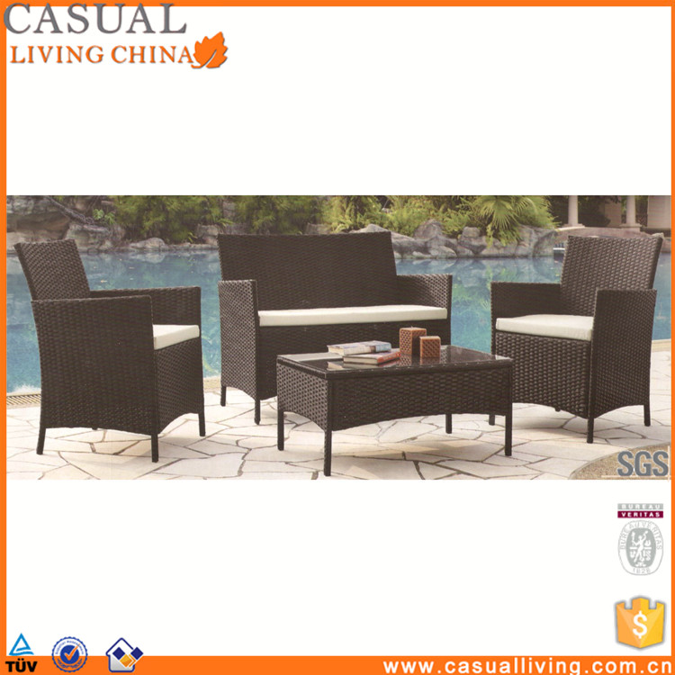 Factory Direct rattan garden furniture Patio 4 Piece lounger sets