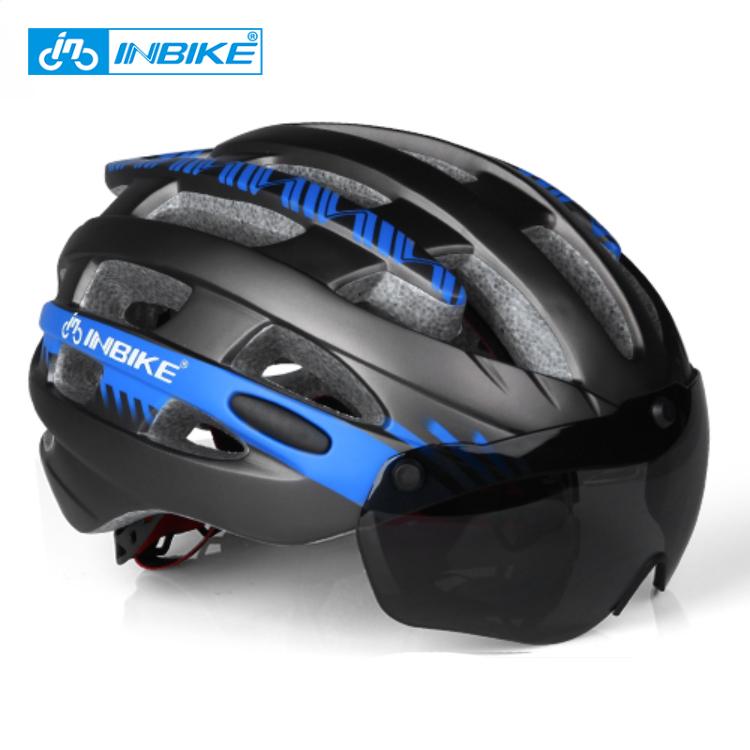 INBIKE Custom Adults Portable Motorcycle Electric Bike Bicycle Light Helmet Safety Shield Sun Visor Glasses Helmets for Bikers фото