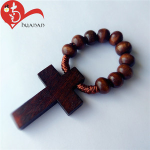 Wholesale 6MM Round Wood Beads Religious Rosary Beads Finger Rosary