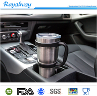 Royalway custom tumbler cup handle for 30oz,spill proof grip for cooler stainless steel tumbler