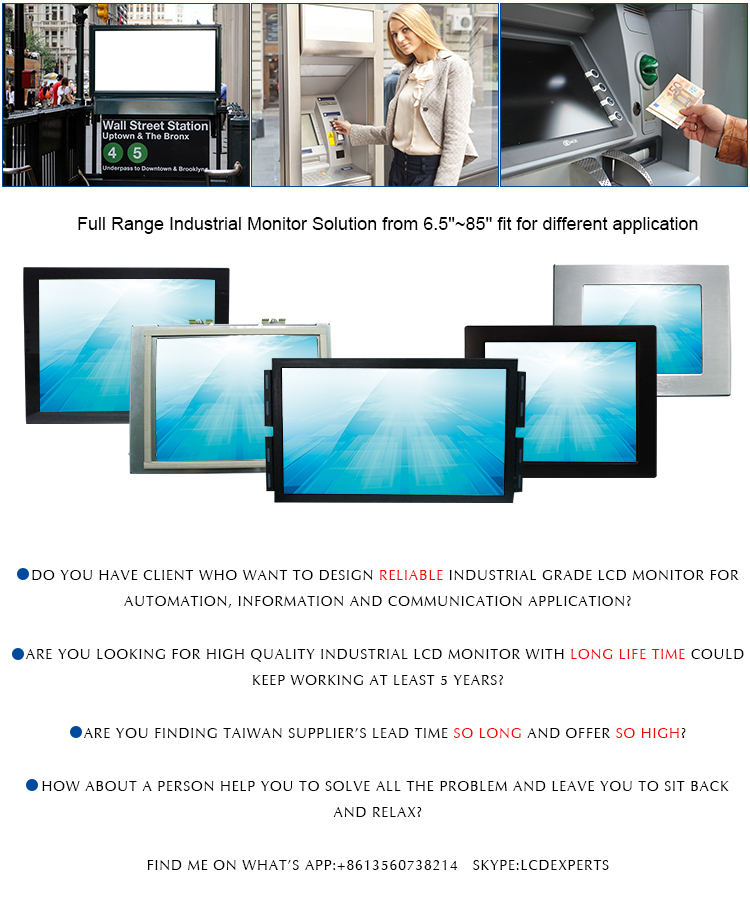 Saw Touchscreen Ip65 Monitor Vandal Proof Lcd 10 4 Inch
