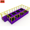 Cheap Big Indoor Rectangular Trampolines Parks