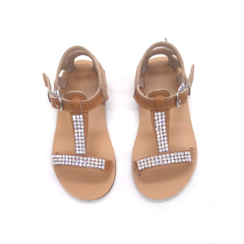 e6d765ce265f summer falt hard sole leather toddler gladiator baby kids girl sandals
