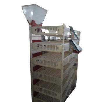 Plastic type hot selling quail laying cage HJ-QC400B