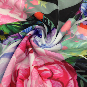 86% polyester 14% spandex digital printed poly stretch swimming fabric