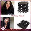 wholesale wavy brazilian hair lace frontal closure 16inch 13X4 size