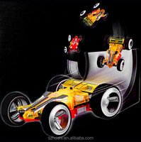 2308 RC Car Electric Toys 4CH Shaft Drive Truck High Speed 25km/h Double-sided 360 Degree Rotating Stunt RC Car With LED