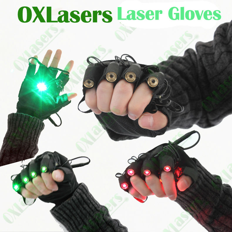 OXLasers cool green laser gloves with green lasers laser dancing stage show light DJ CLUB party with palm light