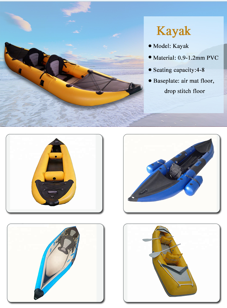 2019 New Product Inflatable Fishing Kayak Custom Design Drop Stitch Kayak