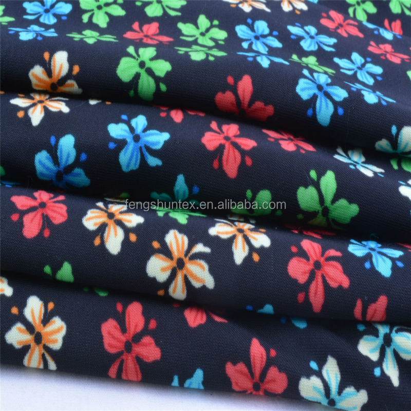 Polyester spandex tactel printed fabric