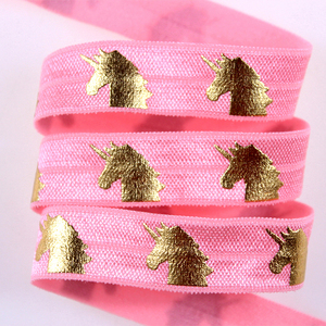 Wholesale Houndstooth printed elastic ribbon