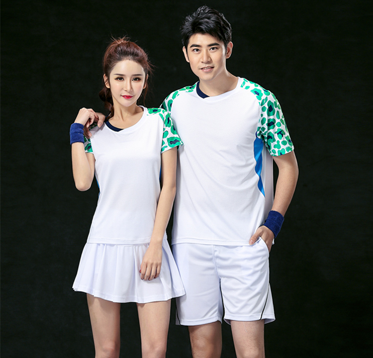 Fashion designer brand name couple badminton/tennis uniform
