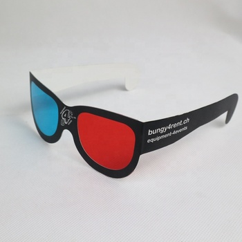 custom logo Red cyan anaglyph 3d paper eye glasses,red blue 3d paper glasses