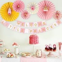 Baby Shower party supplies with welcome little princes Banner , party ideas baby shower decorations for girl