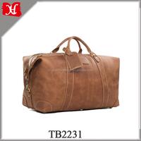 golf leather top grain camp luggage trip bag dropshipper