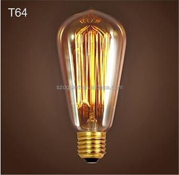Ogs Bf02 Vintage Industrielle Thomas Edison Ampoule Filament Globe