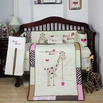 2015 Date Jolie Girafe Bebe Literie Ensembles Pour Neutre Bebe
