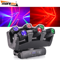Marslite DMX Sound Control disco lamp disko lights 6 heads 10W Led Spider Beam Moving Head Stage Light