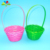 Eco-friendly Bamboo Round Easter Basket Wholesale Woven Easter Basket