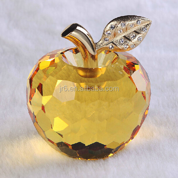 birthday gift for lover yellow crystal apple
