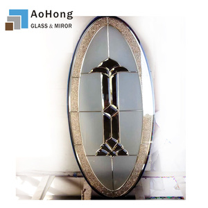 Decorative Door Glass Oval 3/4 Oval Glass Inserts Door