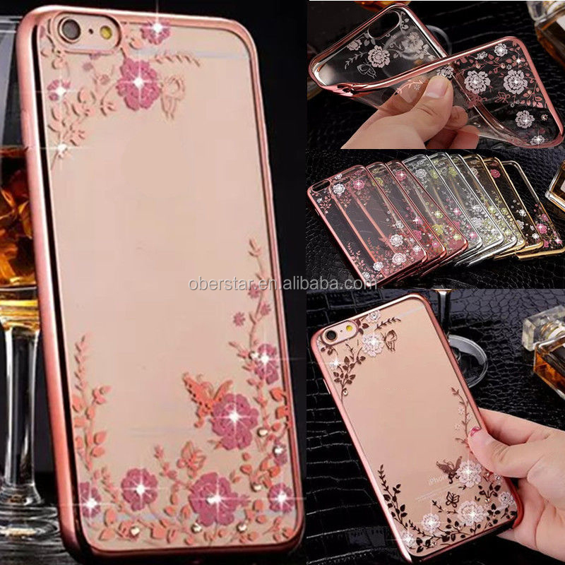 <strong>Hot</strong> ! Secret Garden TPU case Luxury ShockProof Silicone Rubber Clear Case Cover For iPhone 6 6S