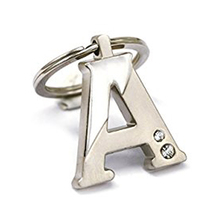 New Arrival Initial Letter A Key Ring with Pouch Bag