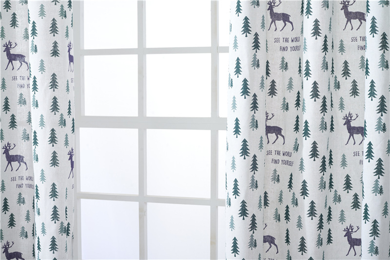 hot selling ready made embroidered modern 100% Polyester window Curtain bedroom