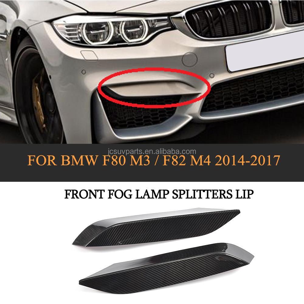 For BMW F80 M3 2015~2017 F82 M4 2014~2017 Carbon Fiber Front Bumper Splitters