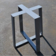 Factory Price Black Powder Coating Metal Table base, Tapered Pedestal Style - Any Size