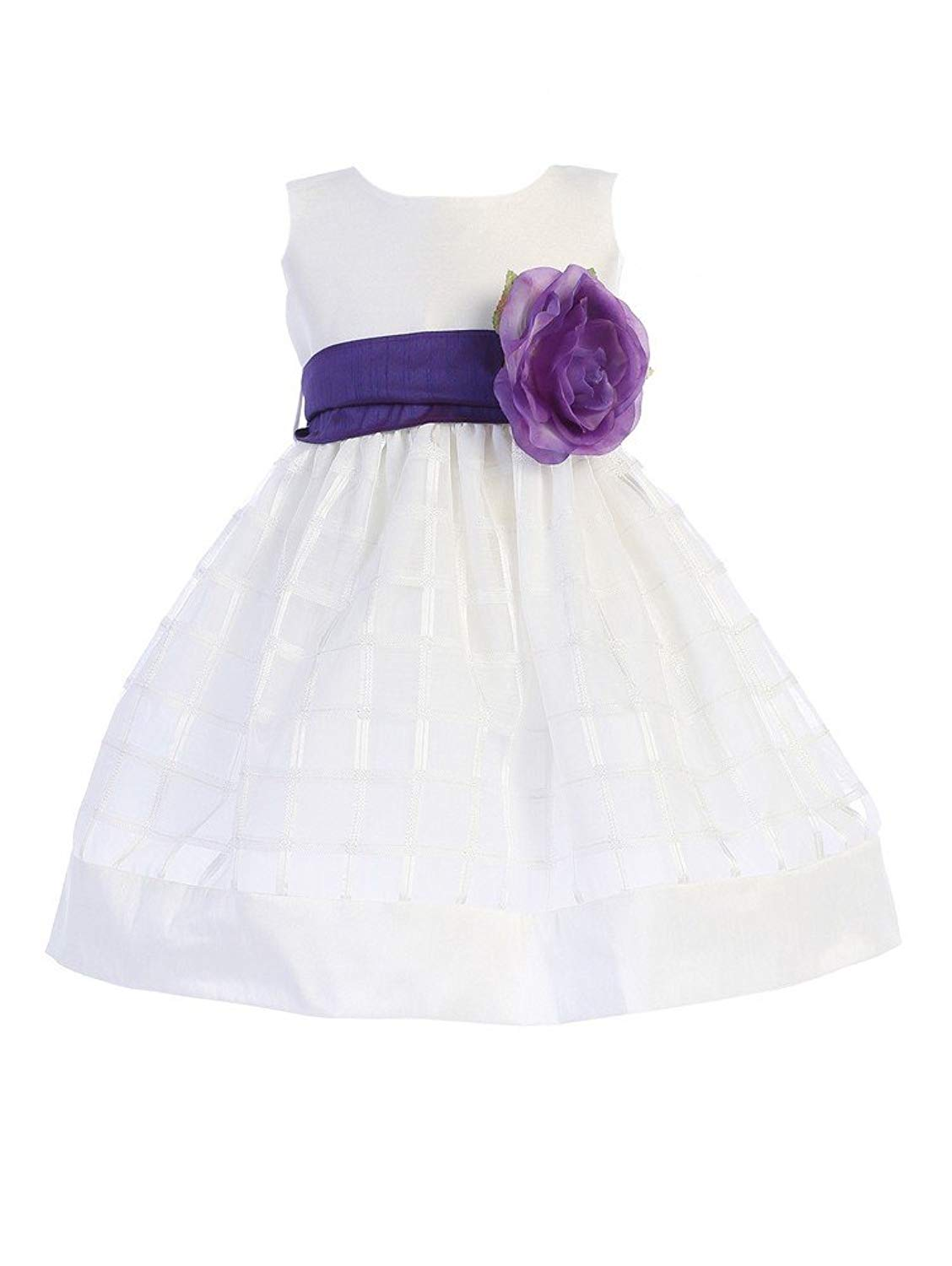 Cheap Purple And White Flower Girl Dress Find Purple And White