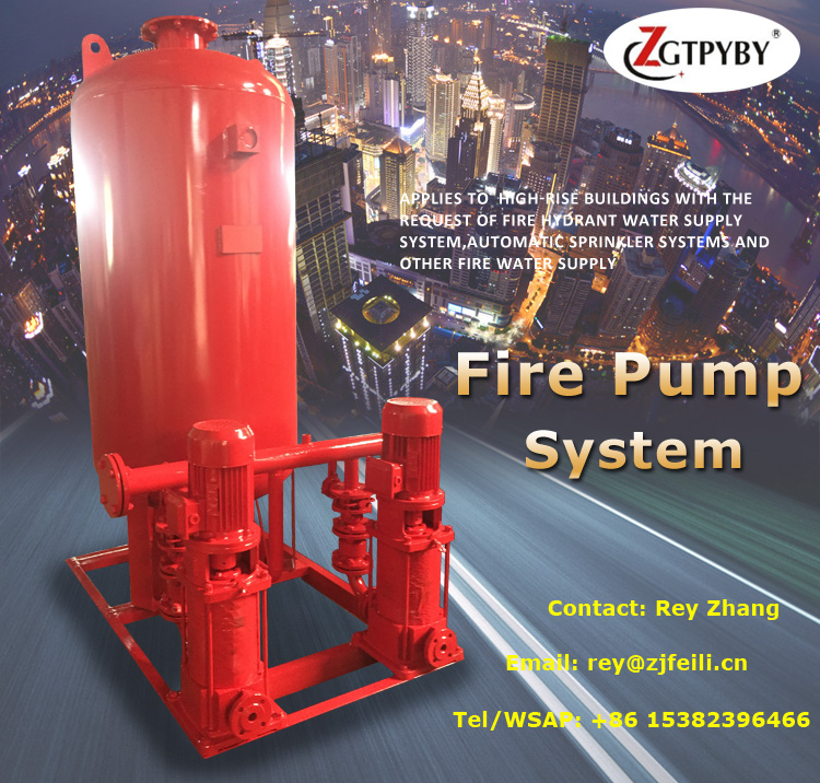 water booster pump for pipeline high pressure spray pump firefighting machine for fire system