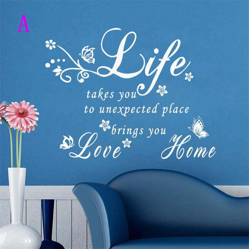 8383 2.5 life love home quote wall stickers home decor Character home decoration vinyl wall stickers warm words wall sticker