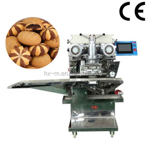 PLC Stainless steel easy operate automatic chocolate filled cookie making machine
