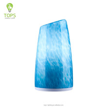 Colorful blue tower glass lamp shade star hotel household classic table lamp