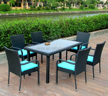 Synthetic Wicker Furniture Rattan Outdoor Cebu Dining Table And Chairs