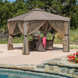 all weather cheap roman metal line outdoor tent gazebo garden pavilion