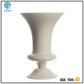 Different Types Decorative Tall White Glass Vase Buy