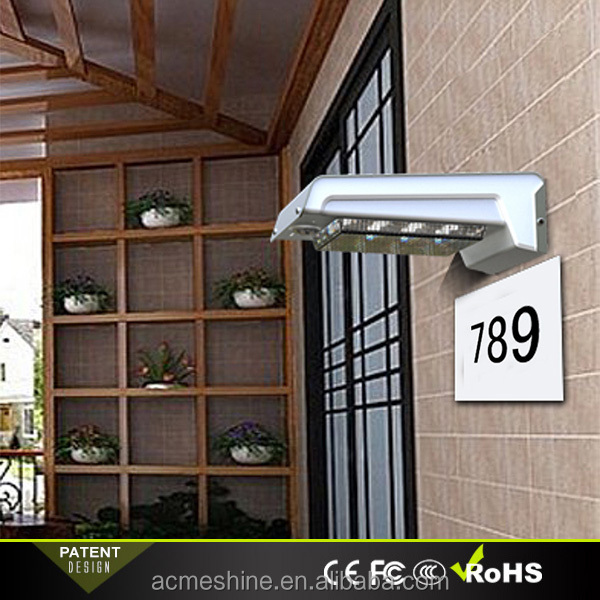 Customized designer door name Lighting Solar sign illuminated outdoor Lamp Post sign number Solar Power Light