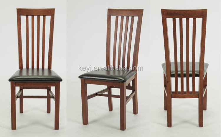 Antique Wooden High Back Armless Dining Chair/ Restaurant