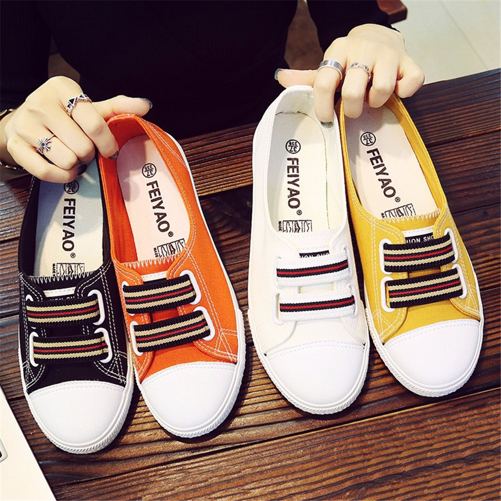 Wholesale Cheap Price Women Casual Fashion Canvas Simple Flat Shoes