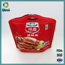 Amazing design printing matte surface cooked meat plastic packaging pouch for food