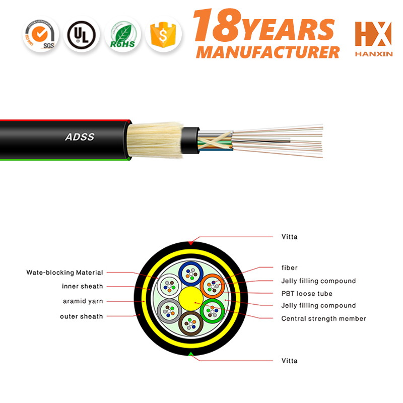 aerial outdoor jelly filled underground telephone cable fiber optic cable ADSS