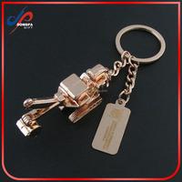 forklift metal key chain /nice excavator key ring /blank car key holder