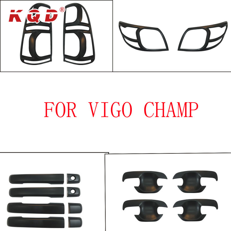 car accessories spare parts black color full body kits for Hilux vigo